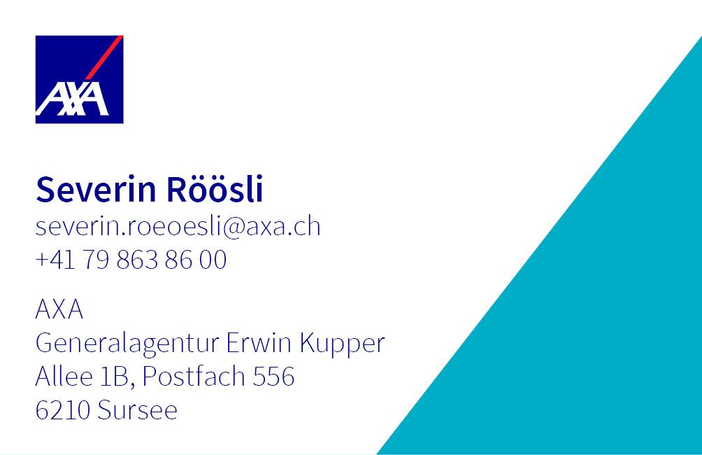 Severin Röösli, Ihr Axa Winterthur-Berater